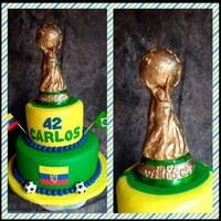 La Copa Del Mundial Brasil 2014 *hand made modeling cuptwo tier