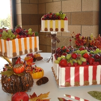 Fall Wedding Fresh fruit on a buttercream cake.