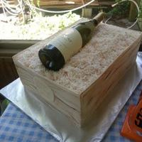 Wine Crate Cake With A Bottle Of Wine From Our Local Winery It Was A Yellow Cake With Buttercream The Side Pieces Were Fondantgumpaste Wine crate cake with a bottle of wine from our local winery. It was a yellow cake with buttercream. The side pieces were fondant/gumpaste...