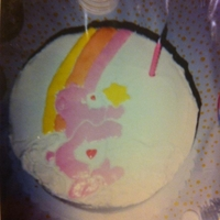 Care Bear Cake This picture is about 7 years old when I had just begun decorating cakes. It was for my daughters 1st birthday!