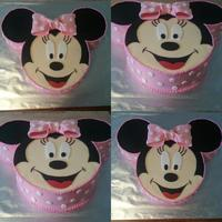 1St Birthday Minnie Mouse Baby girl's 1st birthday cake. Inspired by many cakes seen her on CC. Thanks for looking!