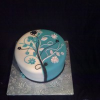 For Her Birthday cake for young lady using her favorite colors. Inspired by cakes seen here on CC..thank you all. TFL