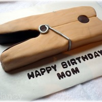 Clothespin Cake! I made this my friend's mother's 65th birthday. It was an inside joke about the clothespin. LOL. It was fun to do a cake with a...