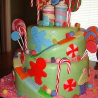 Candy Land All The Decoarations Are Made From Fondant Except The Candy Canes I Love This Cake Candy land!! All the decoarations are made from fondant, except the candy canes. I LOVE this cake