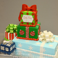 Christmas Presents Stacked Christmas PresentsButtercream with fondant accents