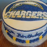 San Diego Chargers   This was for a good friend's daughter's sweet 16. She loves the chargers!