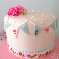 Roses Painted pastel cake
