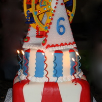 Carnival Ferris Wheel 6Th Birthday Cake Cake made for granddaughter's sixth birthday -- I spent almost two weeks making the ferris wheel from gumpaste. I was so happy with...