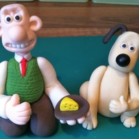 Wallace & Gromit   Cake topper for a 3 yr old Wallace & Gromit fan. Modelling paste