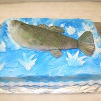 Lets Go Fishing   fish is all fondant and the rest is bc icing and with some air brushing on the fish and cake