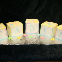 Baby Blocks Baby Shower Cake this is my 2nd time doin the baby blocks all buttercreme icing