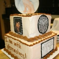 Jacob Black Cake   all buttercreme, fondant wolf and moon