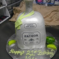 Patron Bottle   Patron BottleVanilla Butter Cake, Butter Cream Frosting, 6 layers