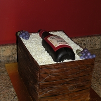 Wine Crate Wine crate cake for a 40th bday. 2-layer 9x13 choc cake with strawberry filling over a 2-layer 9x13 choc cake with tiramisu filling.
