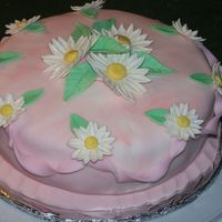 Daisies Cake I made in Fondant and Gum Paste Wilton Course