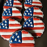 Flag Cookies I made these for armed forces day. Got the idea from The Sweet Adventures of SugarBelle (=