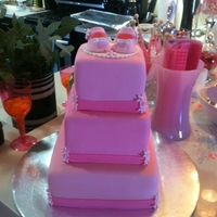 Baby Shower Cake I made this for a friends baby shower. This was my first stacked fondant cake and my 3rd fondant covered cake....I was a stress case. I...