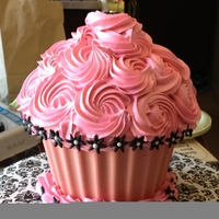 Girly Birthday Cupcake