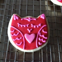 Owl Valentine Cookies Made for my kids to pass out at school (=