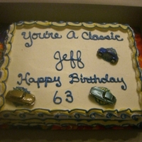 Classic Cars   Classic Car Birthday cake