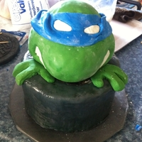 Ninja Turtles! Grooms cake! Fun cake for the groom, I made the wrong turtle... (they wanted Leonardo), but they were good about it. Manhole cover in the...