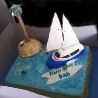 Sailboat, Desert Island Actually a birthday cake, but in honor of the Dad it was created for! He always wanted a boat, but at least he can eat this one! Island was...
