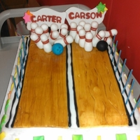 Bowling Cake This bowling cake was made for the boys birthday party this year... Enjoy!