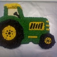 Tractor Cake Chocolate cake with bc icing