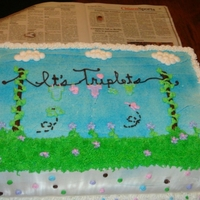 Triplets Clothes Line Baby Shower Cake Triplets Clothes line Baby Shower Cake