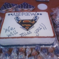 Superman Airforce Going Away Cake Superman / Airforce Miss you cake