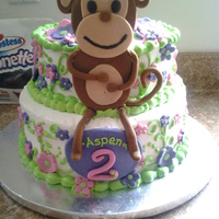Girly Monkey Girly Monkey cake for a friends daughters second bday. She really didnt give me much to go on as far as what she wanted, so this is what I...