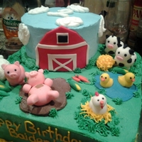Farm Birthday Made this cake for my cousin's sons 2nd birthday. It was farm animal theme. Animals are made out of fondant. I got inspration from...