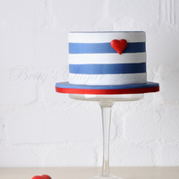 Nautical Love small cake for a nautical love theme