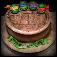 This Tmnt Cake Was Made For A Very Excited 6 Year Old Figures Are Made Of Mm Fondant Covering Rice Crispy Treats Such A Fun Cake To Make  This TMNT cake was made for a very excited 6 year old! Figures are made of mm fondant covering rice crispy treats. Such a fun cake to make...