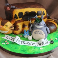 Totoro Cake Here is a cake that I made for a Totoro lover! The Catbus is the cake. It was such a fun cake to make! Totoro and his little friends were...
