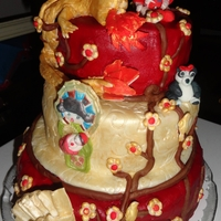 My Grandbaby's Shower - Born In The Year Of The Dragon. I made this cake for my daughter-in-law's baby shower. This cake is a Oriental Theme bacause she is Chinese. The cake is made of 3...