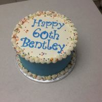 "Blue 60Th 8"" chocolate with Oreo filling"