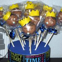 Welcome Prince Pops Sleeping prince cake pops!