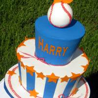 Boys And Baseball Last but not least, baseball themed birthday cake! Harry turns 13, plays baseball, wearing royal blue jersey, his number is #13 and he...
