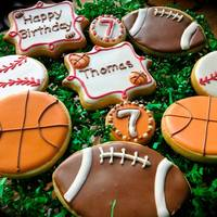 Birthday Cookies For Young Sports Fan Birthday cookies for young sports fan