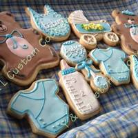 Baby Shower Cookies For Baby Boy *Baby shower cookies for baby boy
