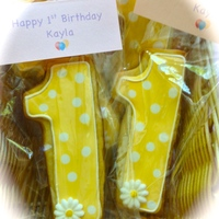 First Birthday Cookie Favors First Birthday cookie favors
