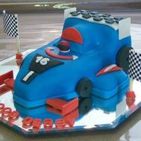 Pinewood Derby Car Cake