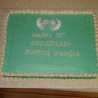 Teal Anniversary Anniversary cake for a friend.