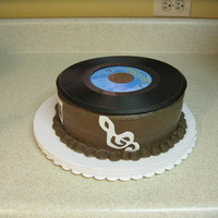 Record Cake Cake i did for a co-workers 60's themed party.
