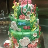 Underwater Kids Cake Done for a local news station to promote a non-profit organization for critically ill children.