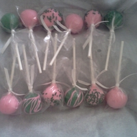 Pink & Green Cake Pops Pink and Green assortment of cake pops