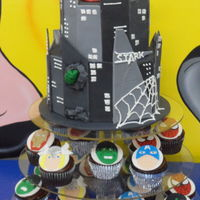 Avengers Birthday Cake And Cupcakes Avengers Birthday cake and cupcakes