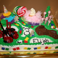 Candy Land Themed Birthday Cake My son Elijah, like all little kids loves candy. I thought it would be fun to create a Candy Land themed cake for his 3rd Birthday. I used...