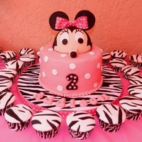 Addison Birthday - Minnie Mouse Minnie Mouse & Zebra print...fun to make